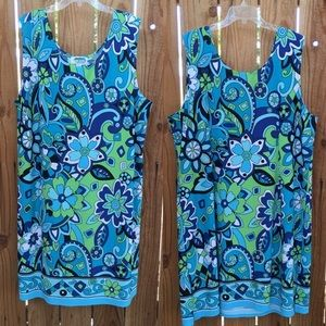 Dresses & Skirts - Plus size Shift dress 3X 60's Print. C1